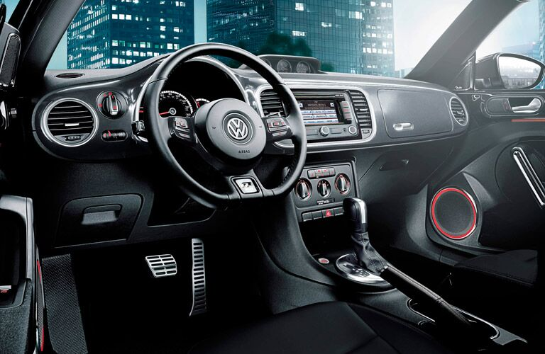 A sporty steering wheel is just one feature of the 2015 Volkswagen Beetle Allentown PA
