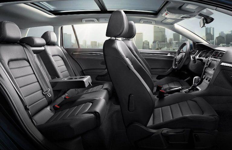 Leatherette seating in the 2015 Volkswagen Golf SportWagen Allentown PA