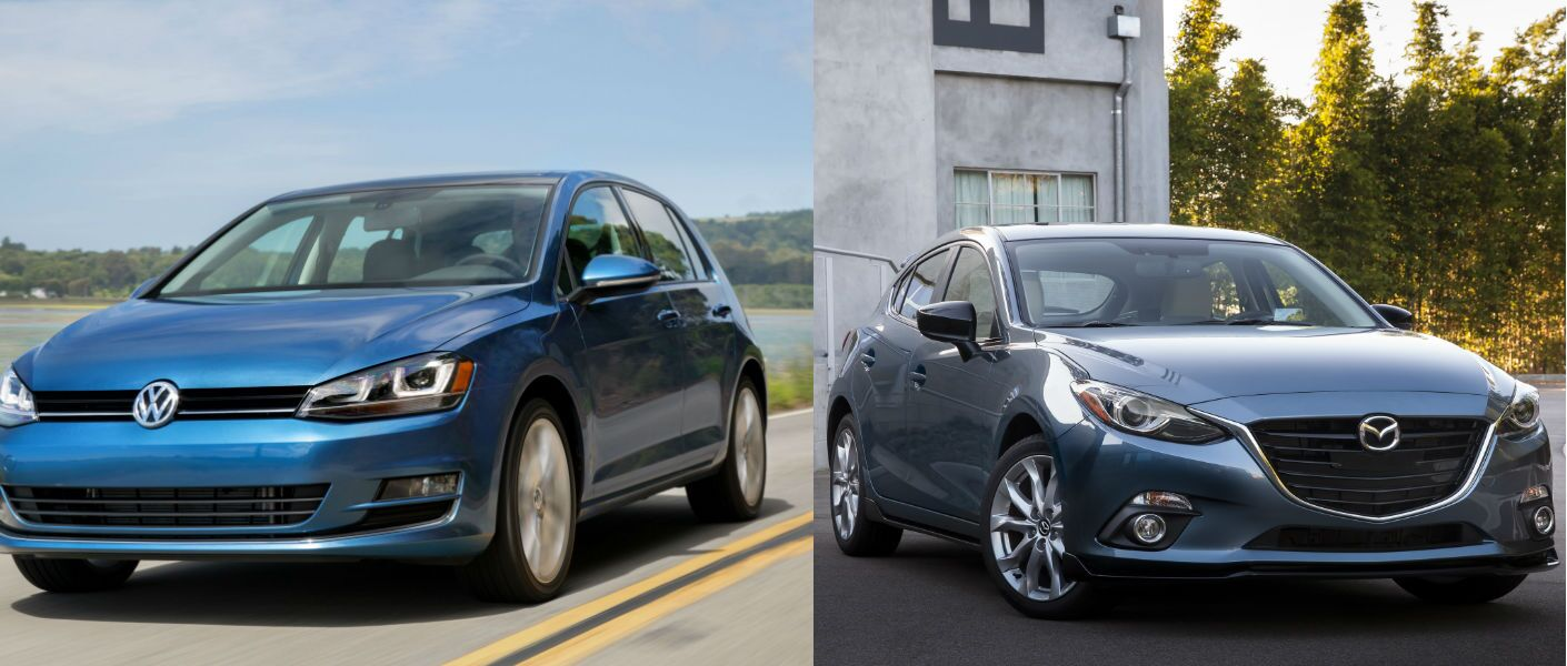 2015 Volkswagen Golf vs 2015 Mazda 3