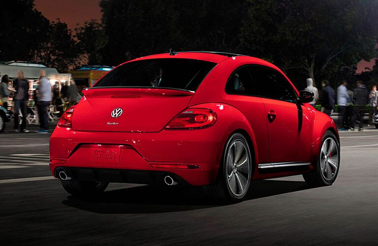 2015 volkswagen beetle exterior rear red