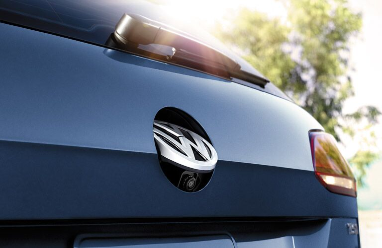 VW logo trunk latch