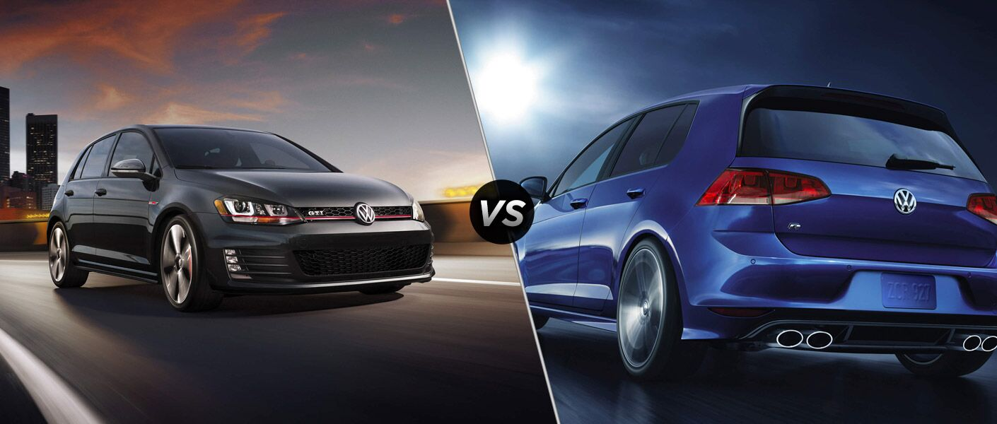 volkswagen golf gti vs volkswagen golf r. Black Bedroom Furniture Sets. Home Design Ideas