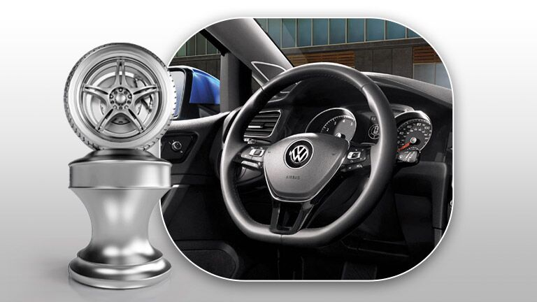 2016 vw golf with multifunction steering wheel control buttons