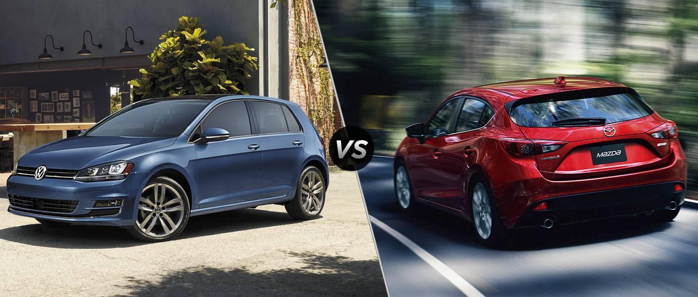 2016 Volkswagen Golf vs 2016 Mazda 3