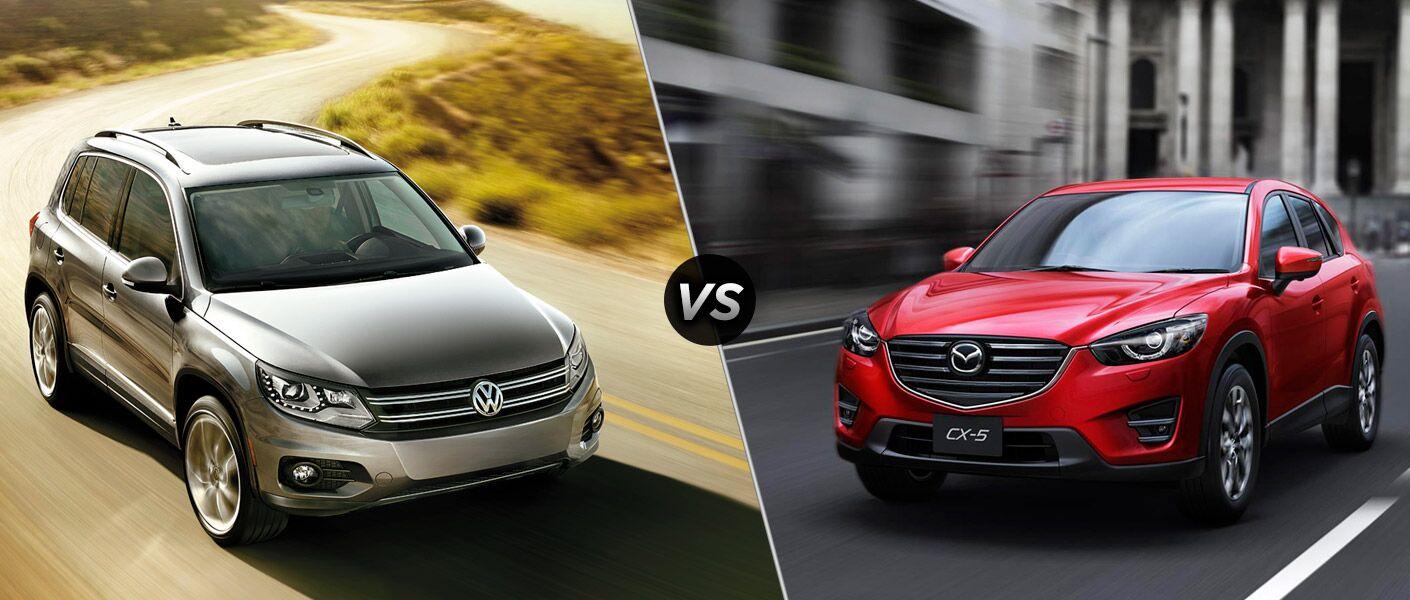 2016 Volkswagen Tiguan Vs 2016 Mazda Cx 5