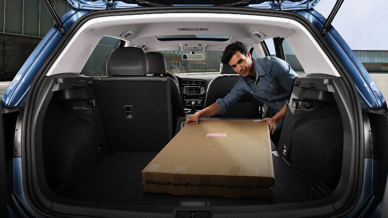 2016 vw golf cargo space with rear seats folded down