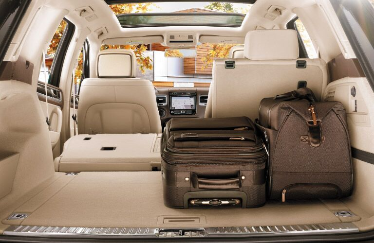 2016 Volkswagen Touareg cargo space with rear seats folded down