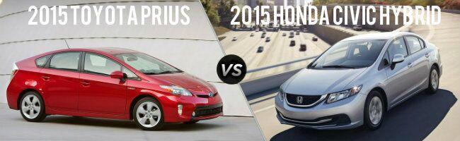 2015 Toyota Prius vs 2015 Honda Civic Hybrid