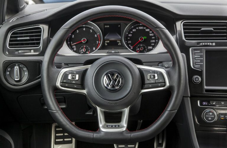 2016 VW Golf GTI interior steering wheel controls technology