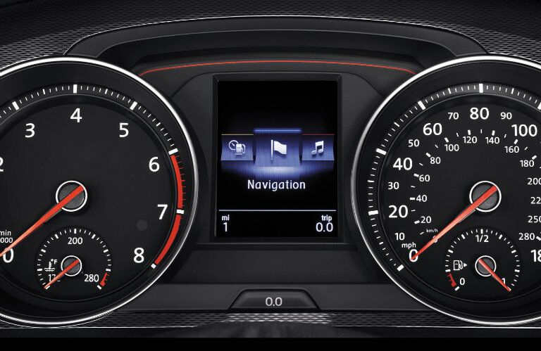 An easy to read gauge cluster makes driving intuitive in the 2015 Volkswagen Golf GTI Springfield MO