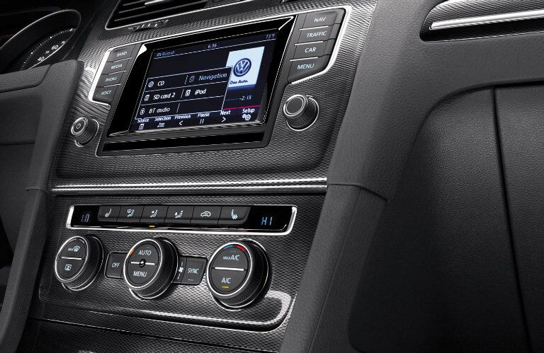 The touchscreen sound system lets you keep your focus on the road when you're driving the 2015 Volkswagen Golf GTI Springfield MO