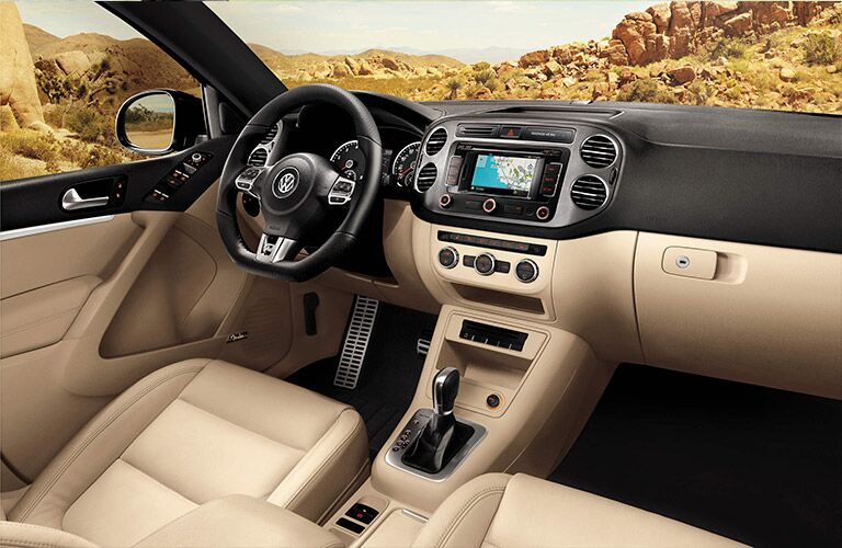 The 2016 Volkswagen Tiguan interior is as attractive as expected.