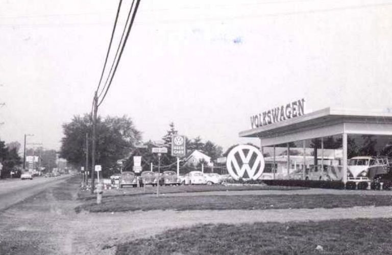 York Volkswagen Old Picture Building 1960