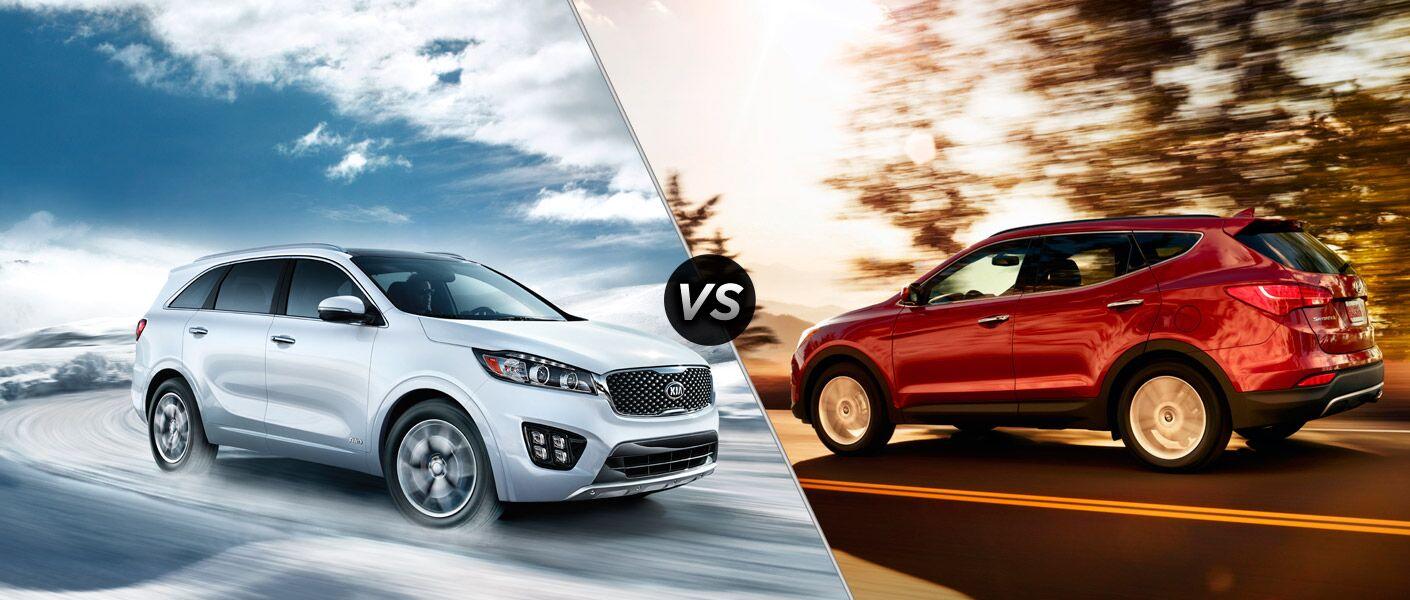 Kia Sorento vs 2016 Hyundai Santa Fe