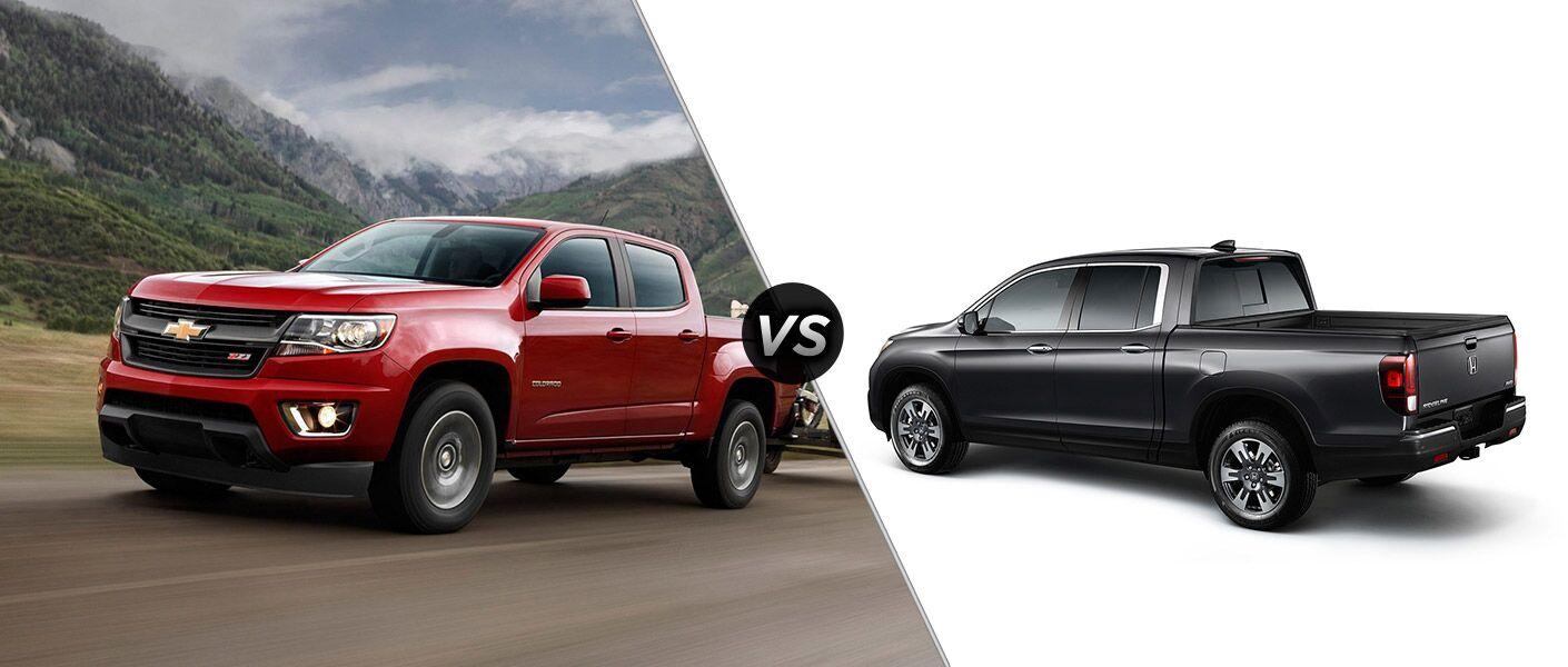 2016 Chevy Colorado vs 2017 Honda Ridgeline View Image