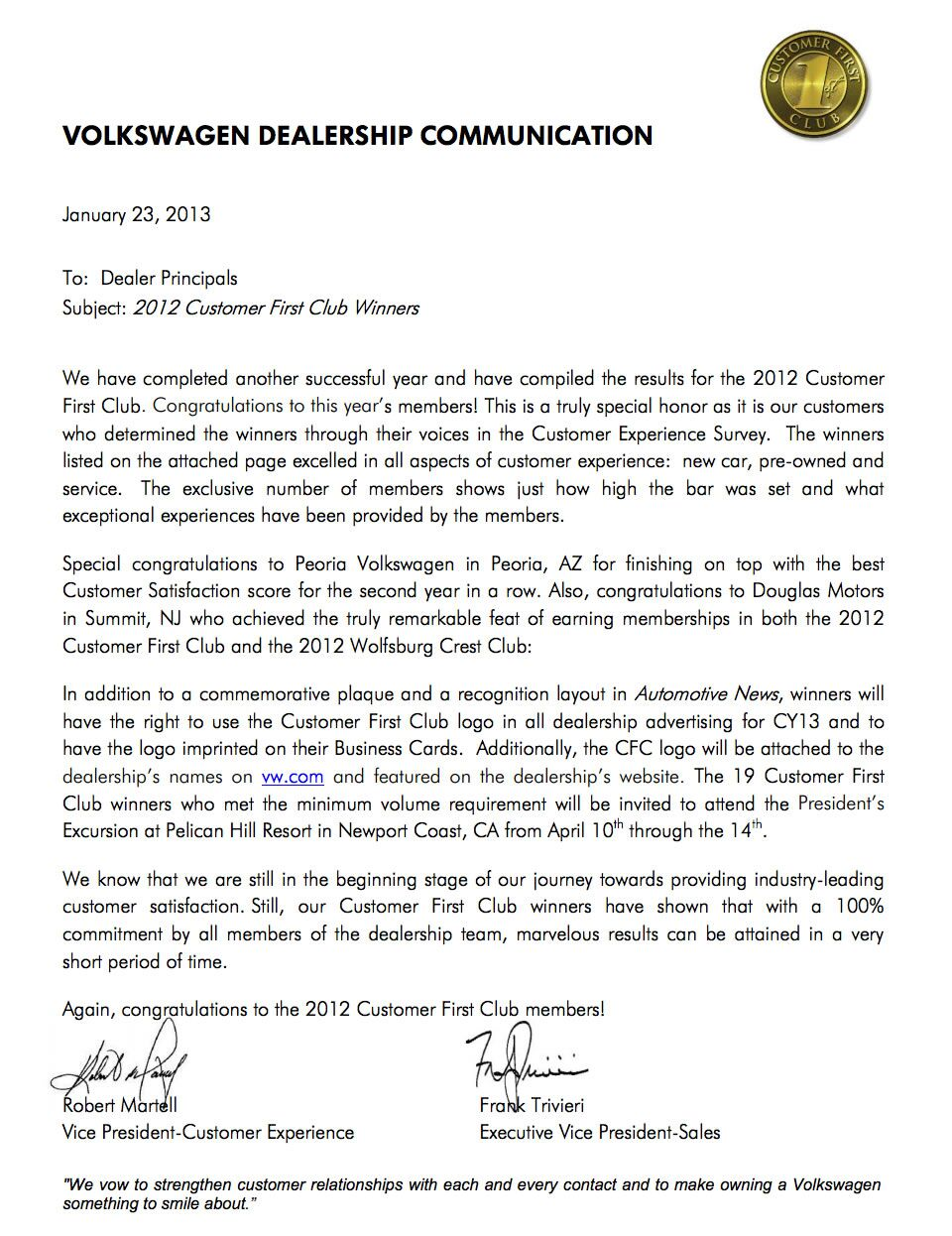 Wellesley Volkswagen Customer First Club Wellesley MA