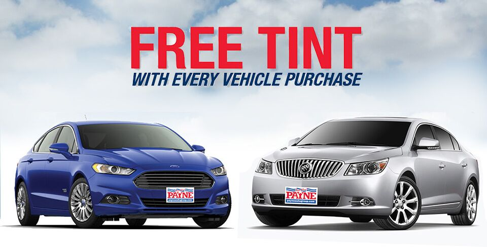Free tint with every vehicle purchase