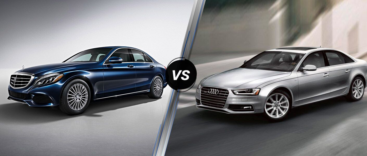 2016 Mercedes-­Benz C-Class vs. 2016 Audi A4 models