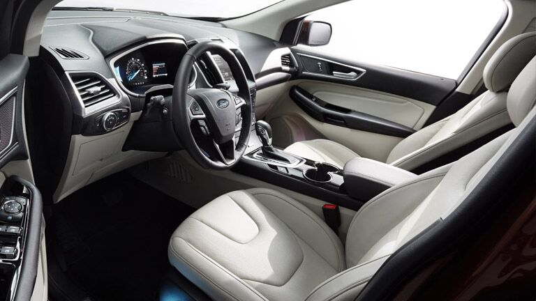 The interior of the 2016 Ford Edge Tampa FL is extremely sophisticated.
