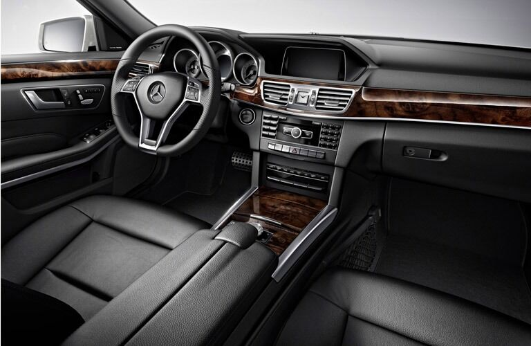 Wood trim can be a part of the interior on a used Mercedes-Benz E-Class near Dallas TX.