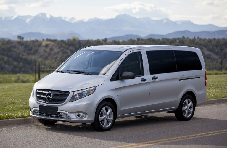 Silver Mercedes-Benz Metris Passengers