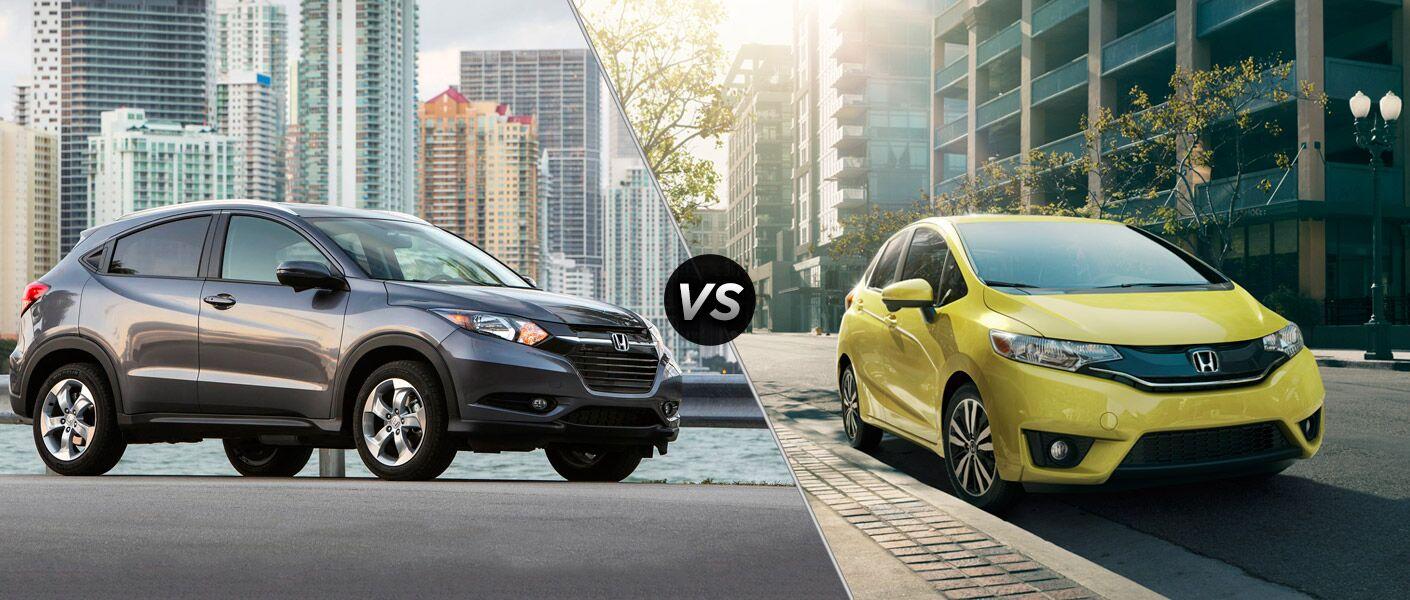 2016 Honda HR-V vs 2016 Honda Fit