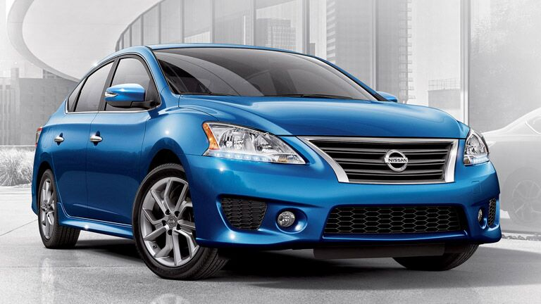 Front view of the 2015 Nissan Sentra