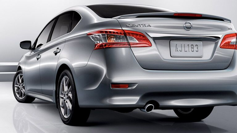 Rear view of the 2015 Nissan Sentra