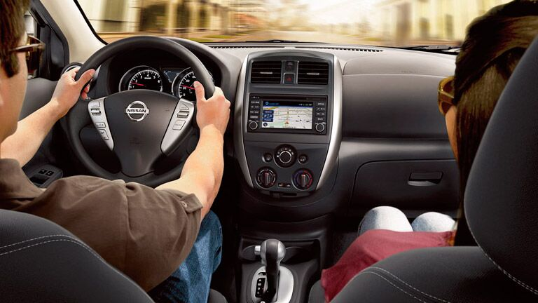 Comfortable interior of the  2015 Nissan Versa