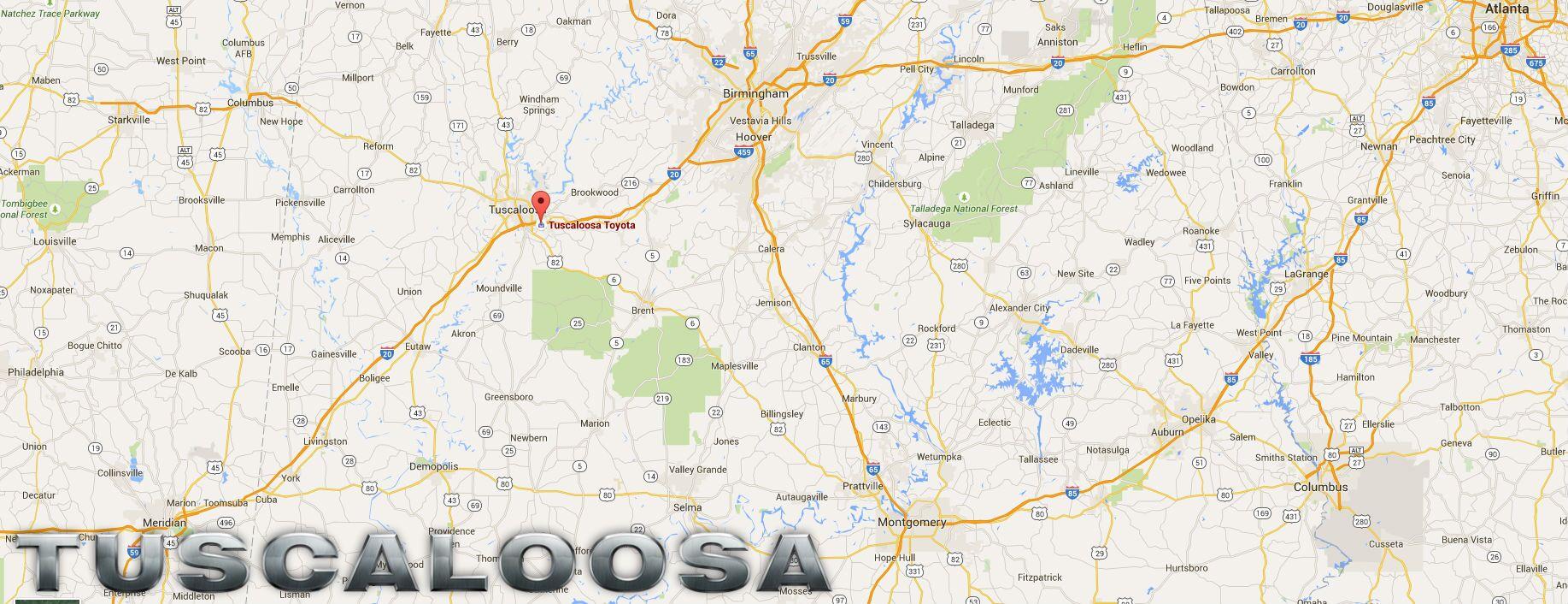 Tuscaloosa Toyota community involvement University of Alabama Easter Seals local schools organizations Tuscaloosa AL
