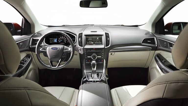 The interior of the 2015 Ford Edge Atlanta GA is sleek and advanced.