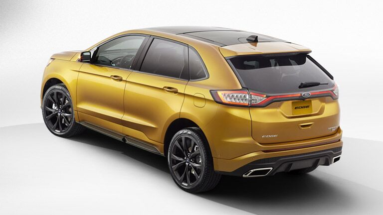The 2015 Ford Edge is aerodynamic and cool.