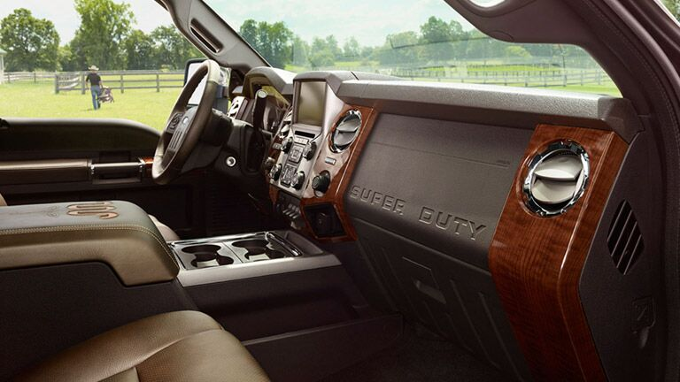 Interior of the 2015 Ford Super Duty F-250 King Ranch