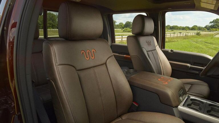 The interior of the 2015 Ford Super Duty Athens GA is sleek and sophisticated.