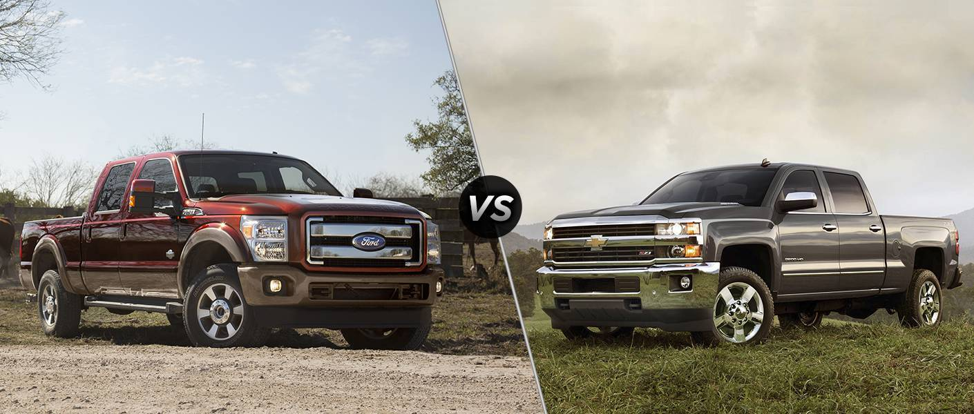 2015 Ford F-250 vs 2015 Chevy Silverado 2500 HD