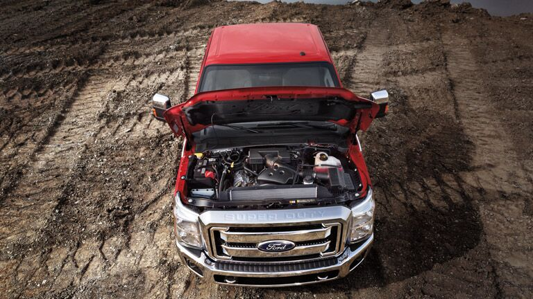 High-powered engine on the  2015 Ford Super Duty F-350
