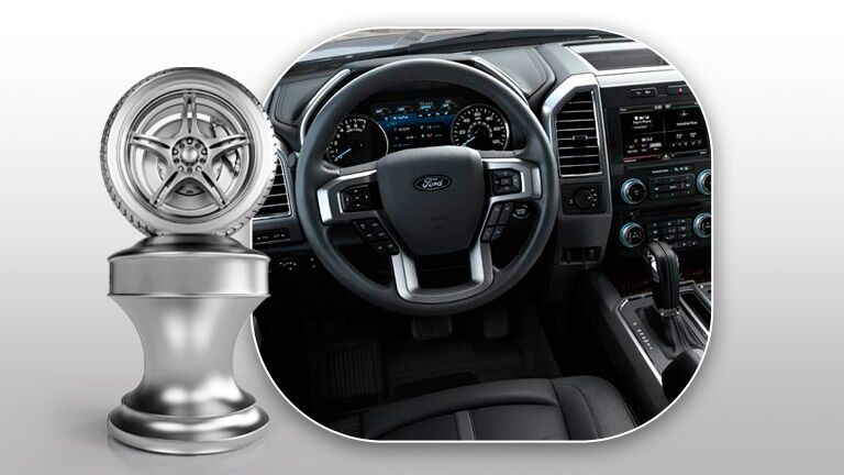 The interior of the 2015 Ford F150 is easy to use and navigate.