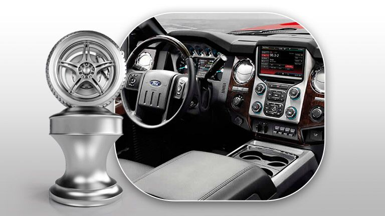 steering wheel and dashboard 2015 Ford Super Duty F-250