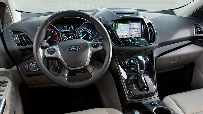 The interior of the 2016 Ford Escape is high-tech and advanced.