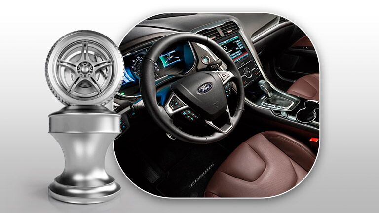 2016 Ford Fusion steering wheel and dashboard