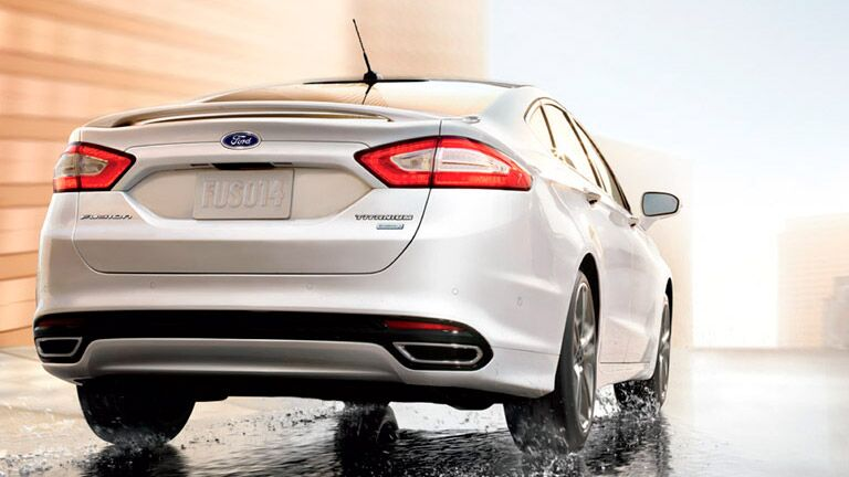 2016 Ford Fusion from the rear