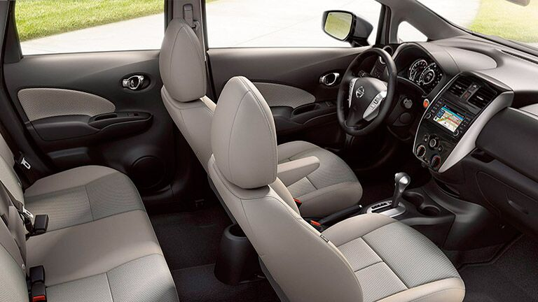 2016 Nissan Versa Note interior seating and features