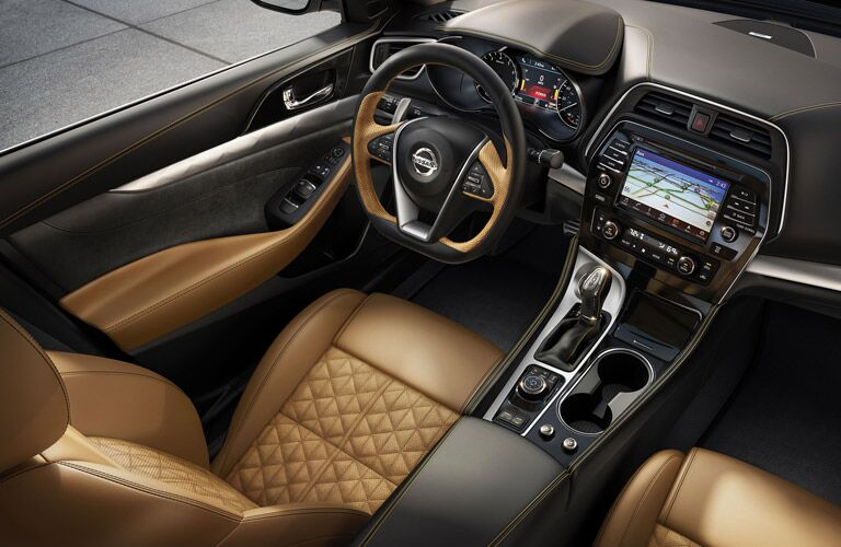 2016 Nissan Maxima interior seating trim, features and technology