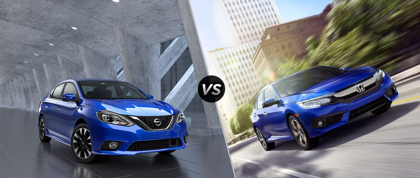 2016 nissan sentra vs 2016 honda civic. Black Bedroom Furniture Sets. Home Design Ideas