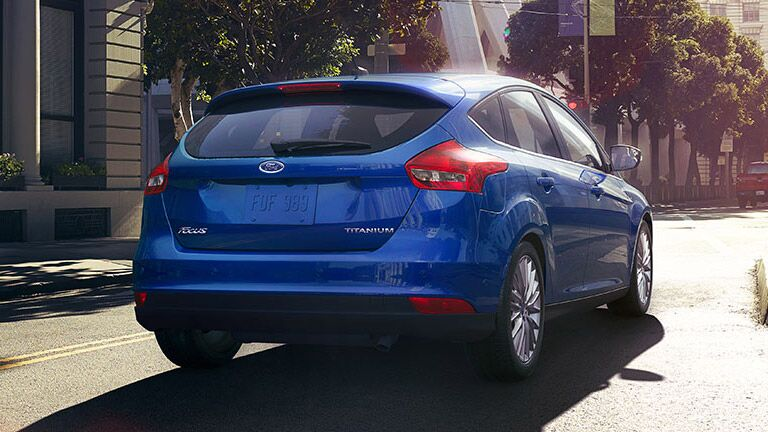 rear view of the  2015 Ford Focus hatchback