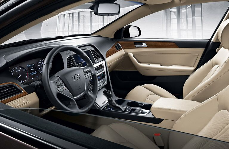 interior of the 2016 Hyundai Sonata in pace upholstery