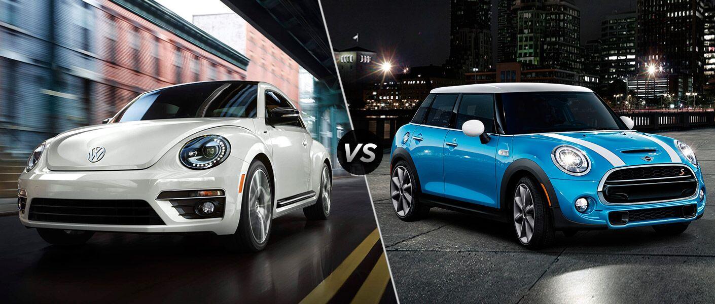 Punch Buggy Volkswagen >> 2016 Volkswagen Beetle vs 2016 Mini Cooper