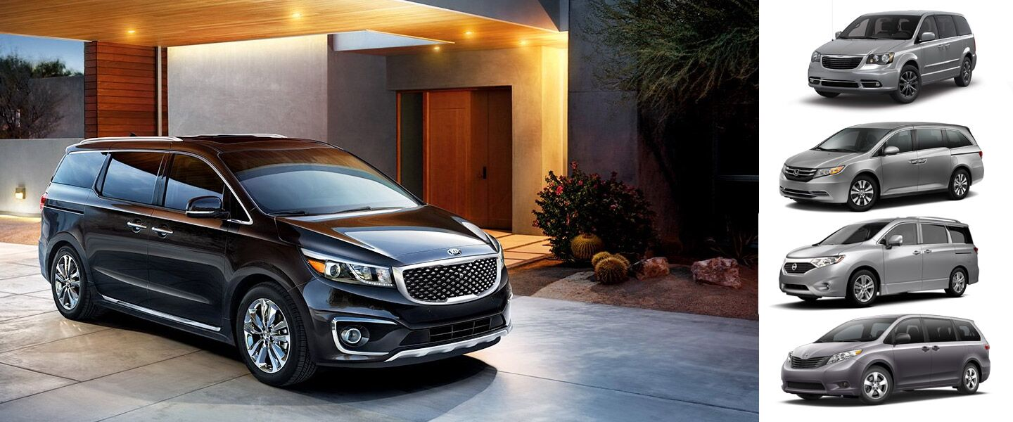 2016 Kia Sedona vs. Minivan Competition cargo room passenger room exterior design New Port Richey Spring Hill Trinity Clearwater Tampa FL