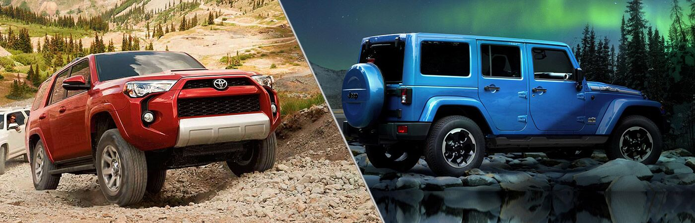 2014 Toyota 4Runner vs 2014 Jeep Wrangler Unlimited