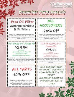 December Parts Specials